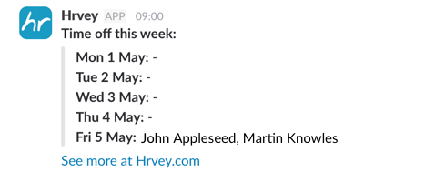 Weekly Slack notification